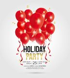 Happy new year party invitation flyer and greeting card  template. Vector illustration  design for holiday party and happy new year party invitation flyer and Stock Photos
