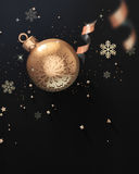 Happy New Year Party Invitation flyer. Happy New Year, merry christmas parti celebration flyer background Stock Image