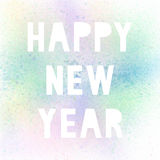 Happy new year with pastel spray paint. On white background royalty free illustration