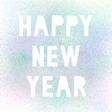 Happy new year with pastel spray paint. On white background stock illustration