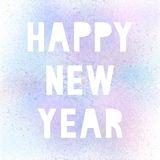 Happy new year with pastel spray paint. On white background vector illustration