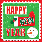 Happy New Year Patch work Stock Photos