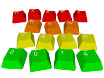 Happy new year 2014 - pc keys Stock Photo