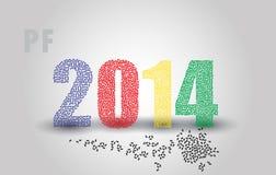 Happy new year pf 2014 eps10 Stock Photos