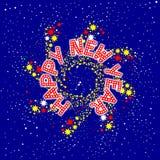 Happy New Year Pin Wheel Stock Photography