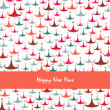 Happy new year pine tree greeting card Royalty Free Stock Photo