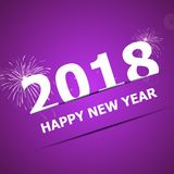 2018 Happy New Year on pink background. Stock vector stock illustration
