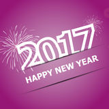 2017 Happy New Year on pink background. Stock vector Stock Photo