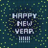 Happy new year pixelated Stock Photography