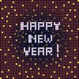 Happy new year pixelated Royalty Free Stock Image