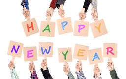 Happy new year placards Stock Images