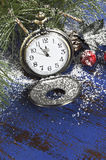 Happy New Year pocket fob watch Royalty Free Stock Images