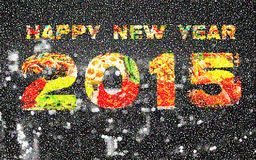 Happy New Year 2015 Pointillized multicolored abstract backgroun Royalty Free Stock Image