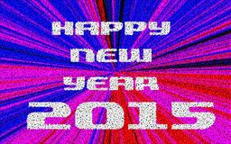 Happy New Year 2015 Pointillized multicolored abstract backgroun Stock Photography