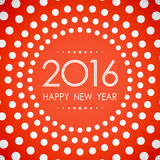 Happy new year 2016 in polka dot circle pattern on summer orange background. Happy new year 2016 in polka dot circle on summer orange background Stock Images