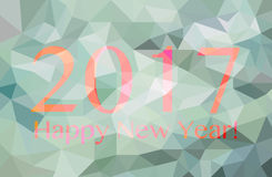 Happy new year 2017 polygonal graphic. Happy new year 2017 made with polygonal graphic royalty free stock image
