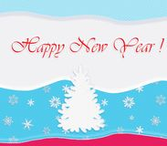 Happy New Year Post card Stock Photos