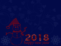 Happy new year postal card Royalty Free Stock Photography