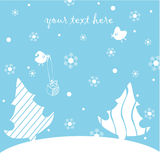 Happy New Year Postcard Royalty Free Stock Image