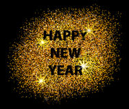 Happy New Year 2017 postcard on black background. Stock Image