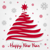 Happy new year. Postcard greetings. Happy New Year Royalty Free Stock Photo