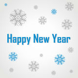 Happy new year. Postcard greetings. Happy New Year Stock Image