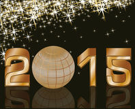 2015 Happy new year postcard. Illustration Royalty Free Stock Images