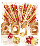 Happy New 2015 year postcard. Vector illustration Stock Images
