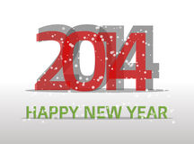 2014 happy new year. Poster or card Vector Illustration