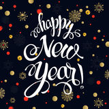 Happy New year 2017 poster card. Calligraphy text Royalty Free Stock Image