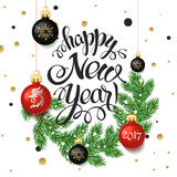 Happy New year 2017 poster card. Stock Photos