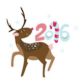Happy New 2016 year poster templat Royalty Free Stock Photo