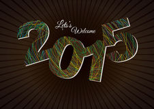 Happy New Year 2015. Poster / Template / Background Design stock illustration