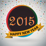 Happy New Year 2015. Poster / Template / Background Design royalty free illustration