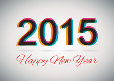 Happy New Year 2015. Poster / Template / Background Design vector illustration