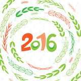 Happy New 2016 year poster template Royalty Free Stock Image