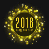 Happy New Year poster 2016 text, abstract  fireworks shine glowing light Stock Photos