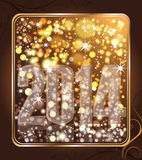 Happy New 2014 year poster. Vector illustration Stock Images