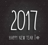 2017 Happy New Year poster Royalty Free Stock Images