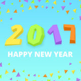 Happy new year postre Royalty Free Stock Photography