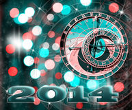 Happy New Year 2014! Stock Photo