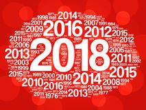 2018 Happy New Year and previous years. Word cloud collage Stock Photo