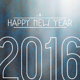 Happy New 2016 Year. Print on branches texture and blurred background Stock Photography