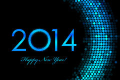 2014 Happy New Year purple background Royalty Free Stock Photo