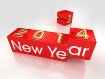Happy New Year 2014. New Year 2014 in Puzzle formation vector illustration