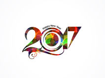 Happy new year rainbow color background with floral effect. Vector illustration Stock Photos