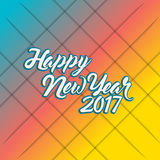 Happy new year 2017 rainbow Stock Image