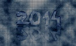 Happy new year 2014. Rainy card from beads Royalty Free Stock Images