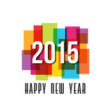 2015 Happy New Year rectangles Royalty Free Stock Photo