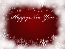 Happy New Year in red Stock Images